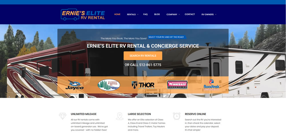 Ernie's Elite RV Rental & Concierge Service